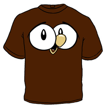 OWLY KIDS BROWN T-SHIRT