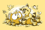 OWLY GIRLY-T YELLOW PLANTING DAY