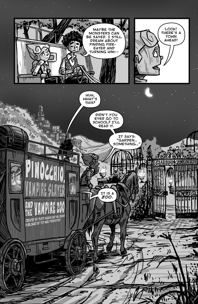 Pinocchio Vampire Slayer vs The Vampire Zoo - Page 1