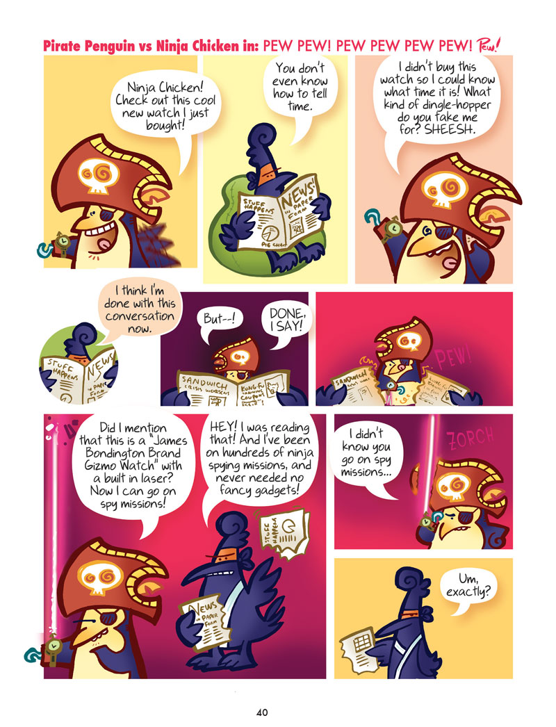 Pirate Penguin vs Ninja Chicken (Book 2): Escape from Skull-Fragment Island! - Page 3