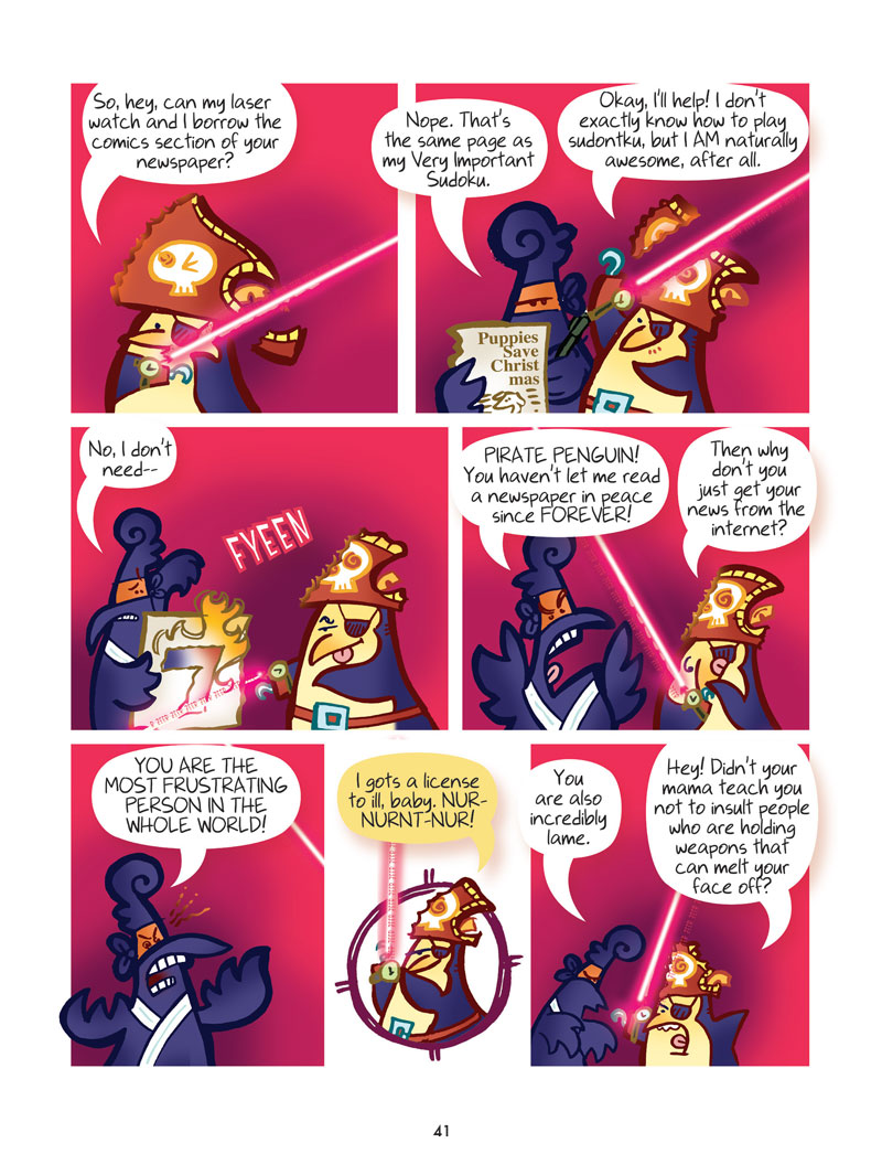 Pirate Penguin vs Ninja Chicken (Book 2): Escape from Skull-Fragment Island! - Page 4
