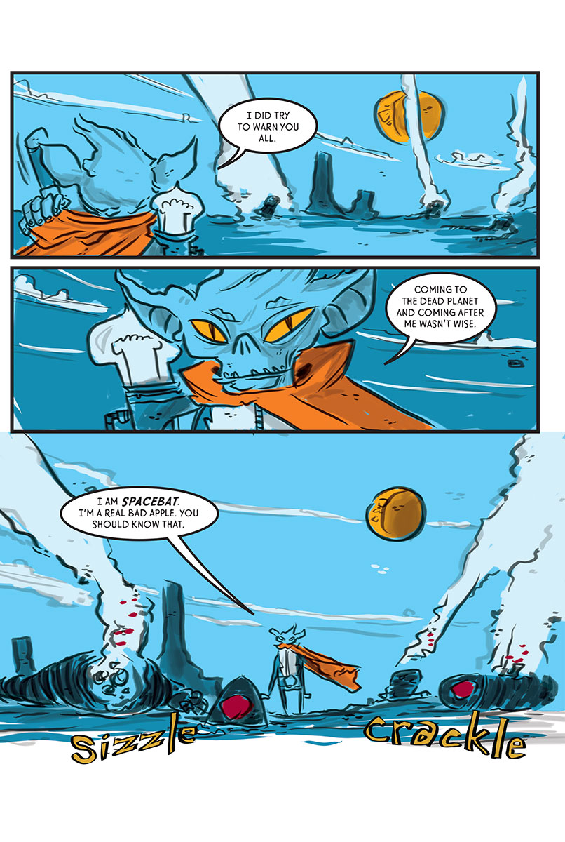Spacebat and the Fugitives (Book One): Tacos at the End of the World - Page 2