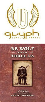 Image for Rich Koslowski wins Glyph Award for BB WOLF!