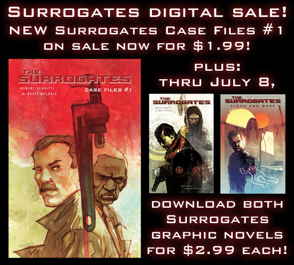 ALL-NEW SURROGATES COMICS! CELEBRATE WITH A SALE!