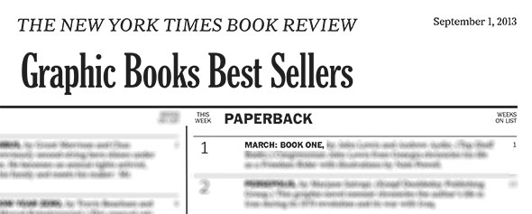 MARCH: BOOK ONE on the New York Times Bestseller list at #1!