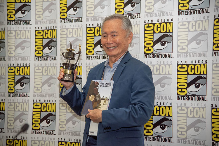 George Takei at San Diego Comic-Con 2019, photo by Sean Macgowan