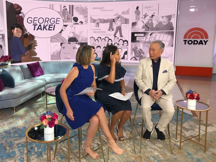 George Takei on the TODAY Show. Photo by Leigh Walton