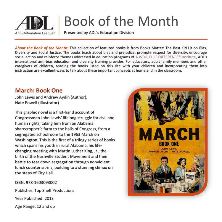 Anti-Defamation League's Book of the Month: March Book One