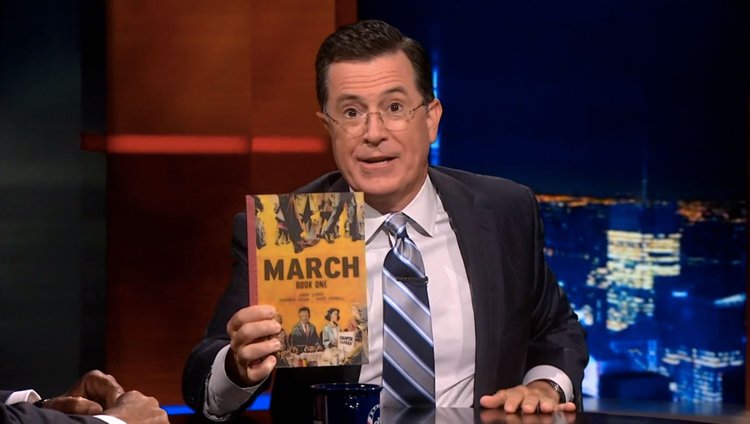 Stephen Colbert with MARCH: BOOK ONE