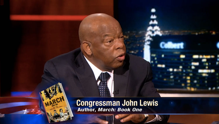 Congressman John Lewis on The Colbert Report